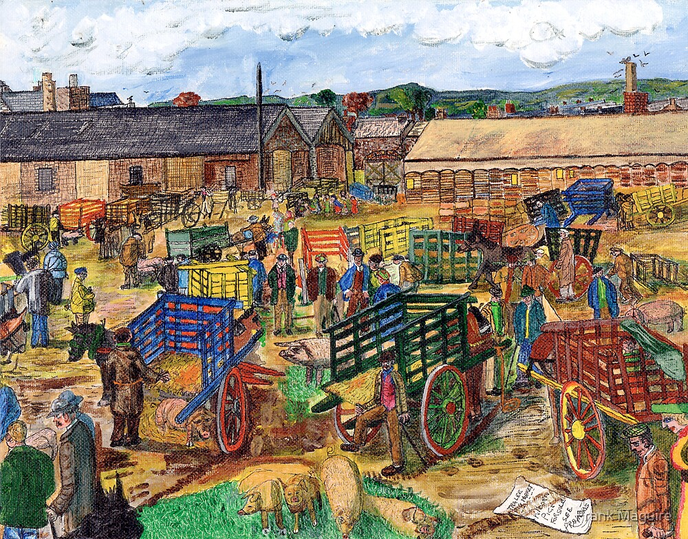 Tralee pig market. by Frank Maguire