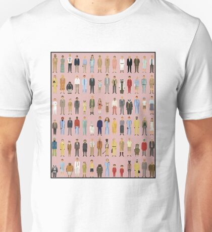 Wes Anderson Cartoon Characters Unisex T-Shirt