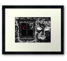 Through the Pane Framed Print