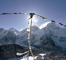 Sagarmāthā (Mt. Everest) 8848 from Kala Patthar (black rock) 5643 by MichaelBr