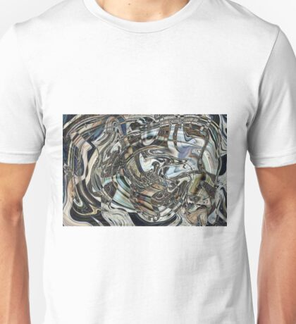 Background from multi-coloured oil carefully mixed in water. Unisex T-Shirt