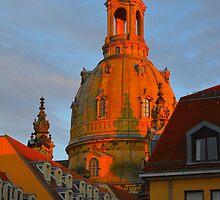 Dresden, Sunset on Church by Andrew Reid Wildman