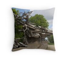 Monument to the Defenders of the Polish Post Office Throw Pillow