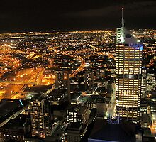 melbourne at night by shazlee