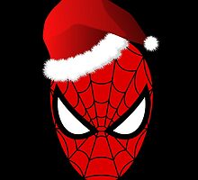 Christmas Spider-Man in Santa Hat  by CraftyCreepers