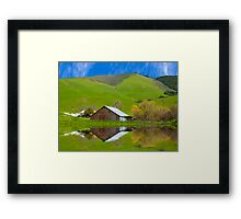 Old Barn, Jallama, CA. Framed Print