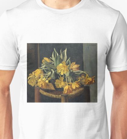 Felix Vallotton - Double Yellow Tulips On A Wicker Chair Unisex T-Shirt