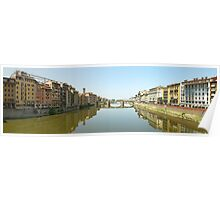 Florence from Ponte Vecchio Poster