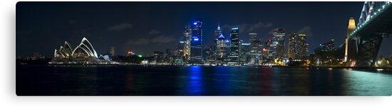 Sydney Skyline Panorama by Gino Iori