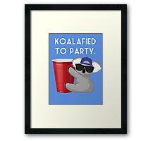 Koalafied to Party Framed Print