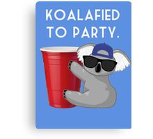 Koalafied to Party Canvas Print