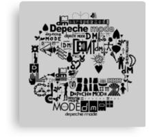 Depeche Mode : DM Logo 2013 - With old logo 2 - Black Canvas Print