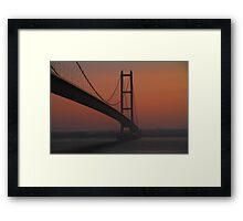 The Humber Bridge at Dusk Framed Print