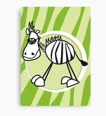 zorro the zebra Canvas Print