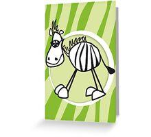 zorro the zebra Greeting Card