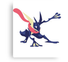 Minimalist Greninja from Super Smash Bros. 4  Canvas Print
