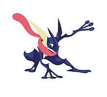 Minimalist Greninja from Super Smash Bros. 4  Photographic Print