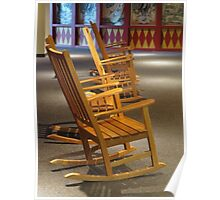 Rocking Chairs in Waiting Poster