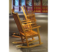 Rocking Chairs in Waiting Photographic Print