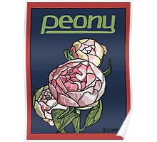 Peony Poster