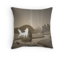 Renard Blanc Throw Pillow