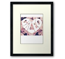Caleo floral background Framed Print