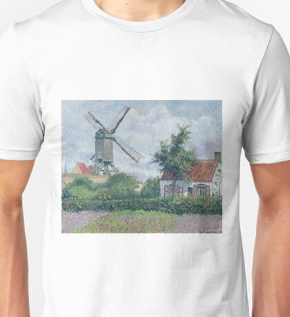 Camille Pissarro - The Windmill At Knokke, 1894 Unisex T-Shirt