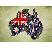 Australian Flag Map Fruits And Vegetables Photographic Print
