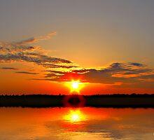 Lake Sunset by aaron  landrum