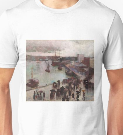 Charles Conder - Departure Of The Orient - Circular Quay (1888) Unisex T-Shirt