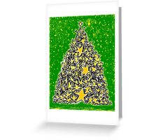 Star Tree Greeting Card