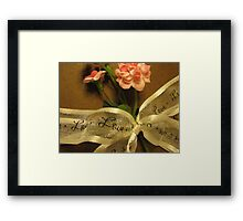 love on a ribbon Framed Print