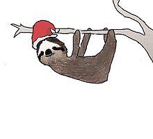 festive sloth by Edie Johnston
