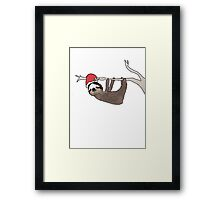 festive sloth Framed Print