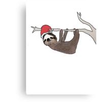 festive sloth Canvas Print
