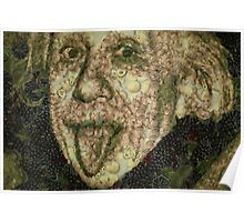 Albert Einstein Sticking His Tongue Vegetables Art Poster