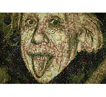 Albert Einstein Sticking His Tongue Vegetables Art Photographic Print