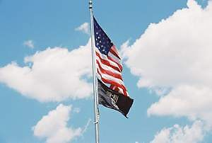 Pow-Mia flag by Laura Howard