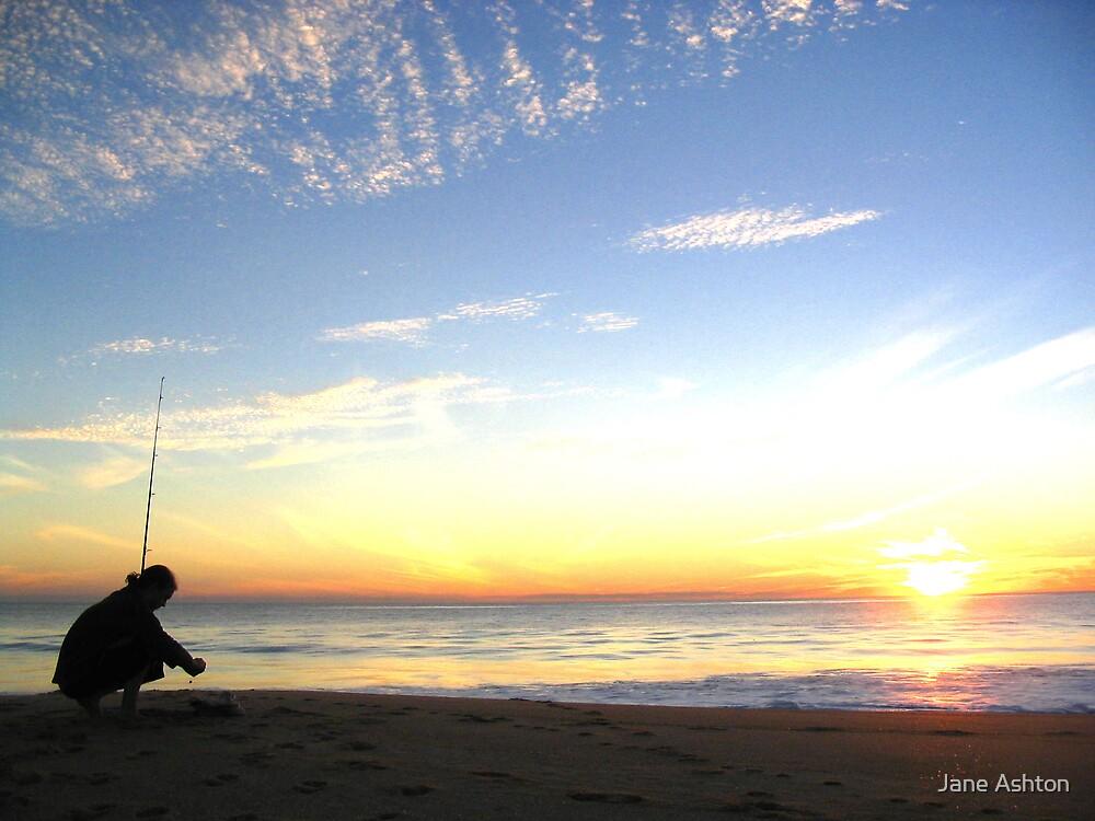 sunset fisherman by Jane Ashton