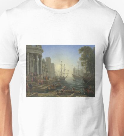 Claude - Seaport With The Embarkation Of Saint Ursula Unisex T-Shirt