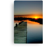 The Empty Pier Canvas Print