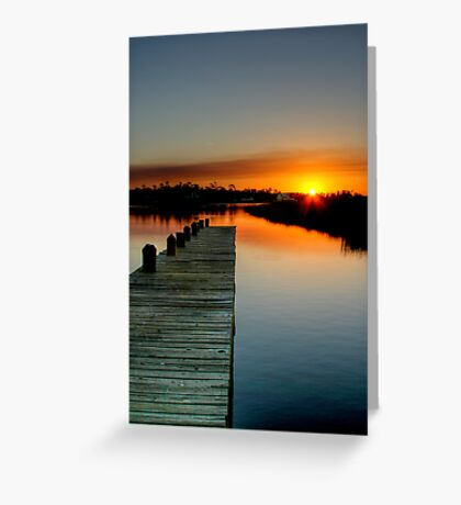 The Empty Pier Greeting Card