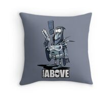 From Above Comic Throw Pillow