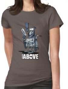 From Above Comic Womens Fitted T-Shirt