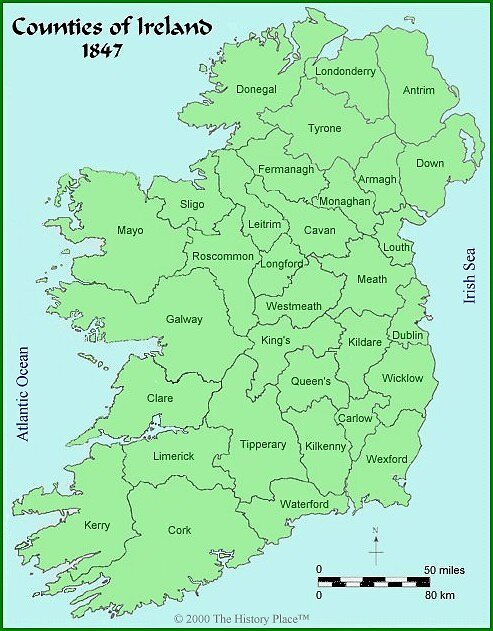 Map of Ireland by Patrick Ronan
