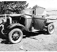 Model A Ford utility, Great Barrier Island, New Zealand. by Roy  Massicks