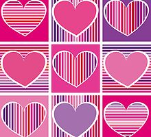 hearts by Micheline Kanzy