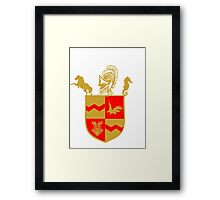 Silas University Coat of Arms Framed Print