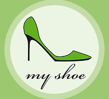 green shoe by Micheline Kanzy