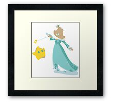 Minimalist Rosalina from Super Smash Bros. 4 Framed Print